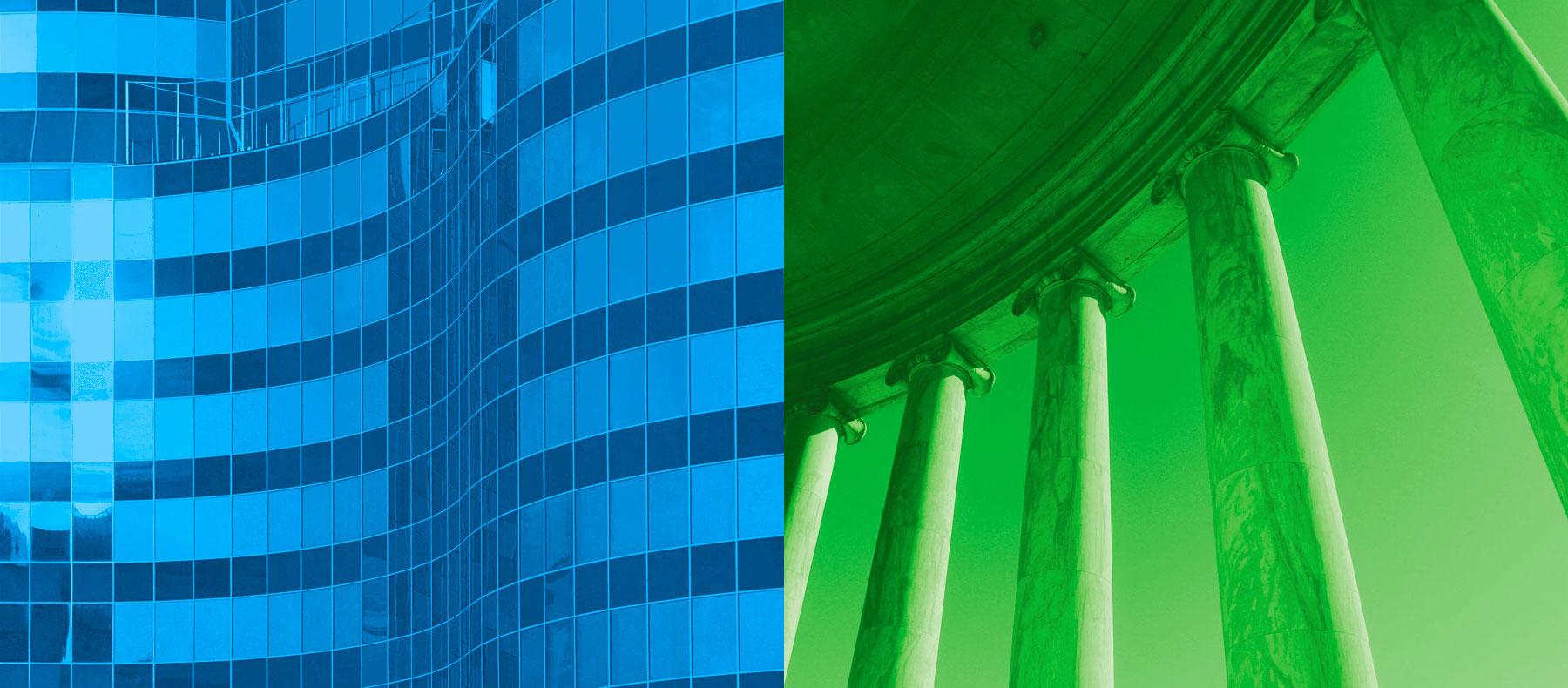 Wirtschaftskanzlei Nürnberg Header Fassade Säulen