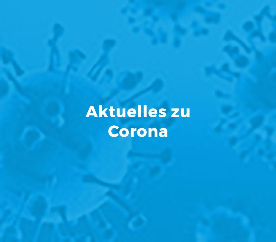 Aktuelles Corona Textkachel
